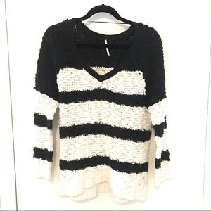 Free People Rugby V-neck Sweater